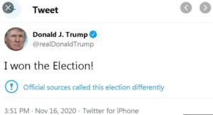 Trump won't admit defeat
